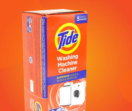 Tide washing machine cleaner package